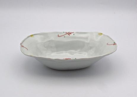 松尾貞一郎 色絵磁器楕円の小鉢T-77