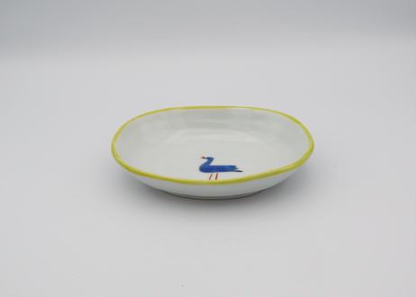 古川章蔵 色絵磁器楕円小皿