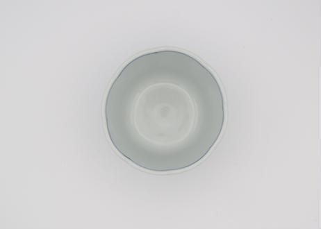 清水なお子 色絵磁器唐草輪花フリーカップ
