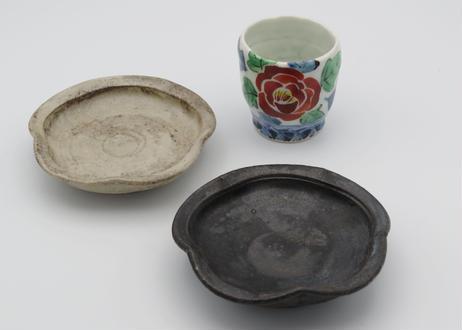 渡辺信史 白釉薬の焼締小皿