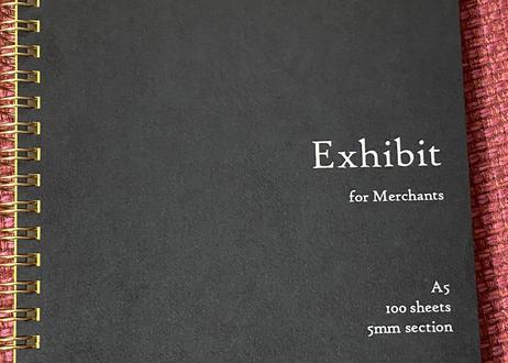 【2冊セット】Exhibit 星路アキナ商店オリジナル A5ビジネスノート 100枚 5mm方眼