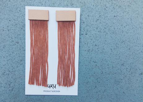Leather Long Fringe Earrings(brick‐red)