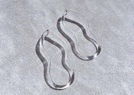 Uneven Oval Earrings(clear)
