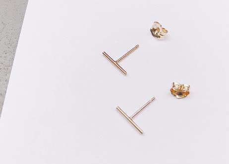 14kgf Small Bar Earrings