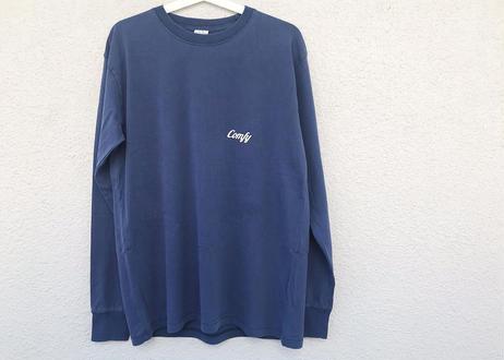 【elu graph】Unisex Pigment Dye Long Sleeve Print Tee(Comfy)