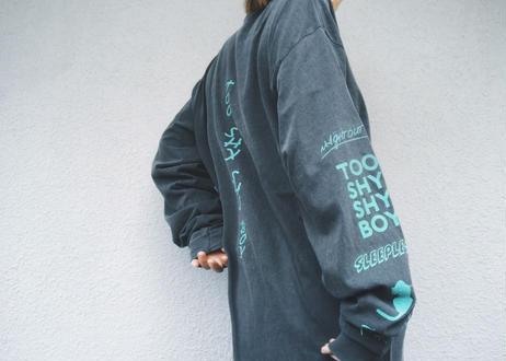 【Relax】Unisex Long Sleeve Print Tee(Too Shy Shy Boy)