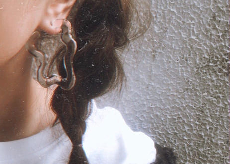 Square Shape Hoop Earrings(Clear)