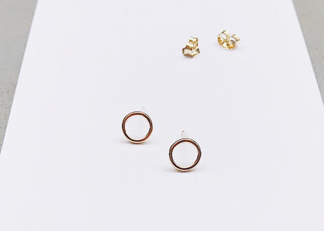 14kgf Small Circle Earrings(S)