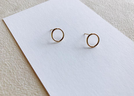 14kgf Small Circle Earrings