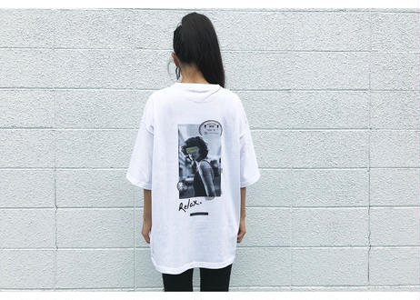 【Relax】Unisex Back Print Big Silhouette Tee (Journey)