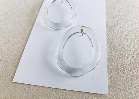 Distorted Clear Oval Earrings