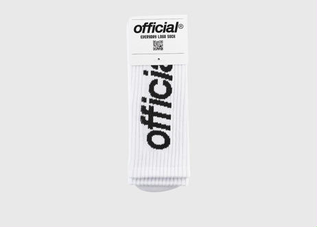OFFICIAL Everyday Logo Crew Sock (White)