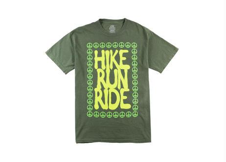 ALL GOOD Run Hike Ride T-Shirt Light Green