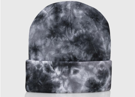 OFFICIAL Dyed Again Beanie (Black / White)