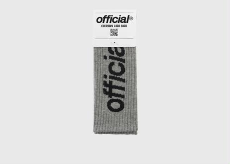 OFFICIAL Everyday Logo Crew Sock (Heather Grey)