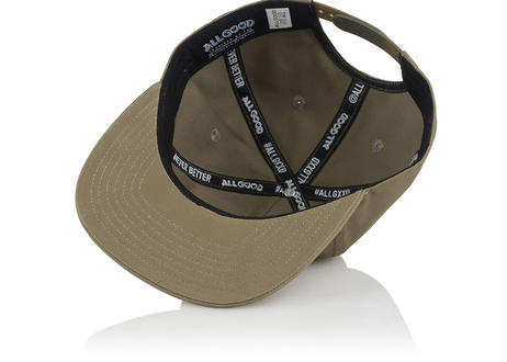 ALL GOOD RAISED AGNB SNAPBACK - KHAKI