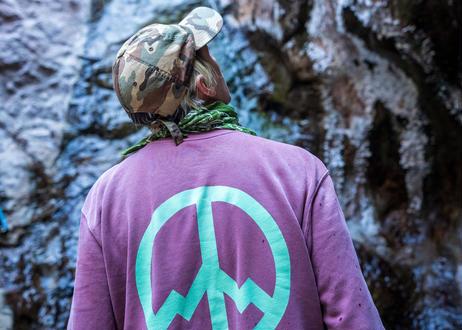 ALLGOOD Inner Peace Outdoors Crewneck Sweatshirt - Pigment Maroon