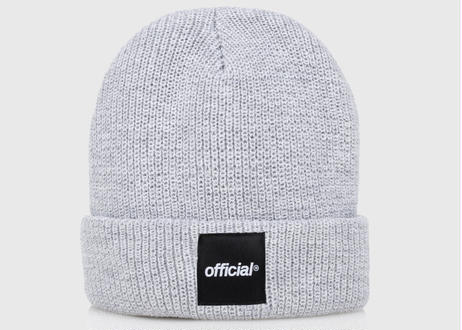OFFICIAL Everyday Box Logo Beanie (Heather Grey)
