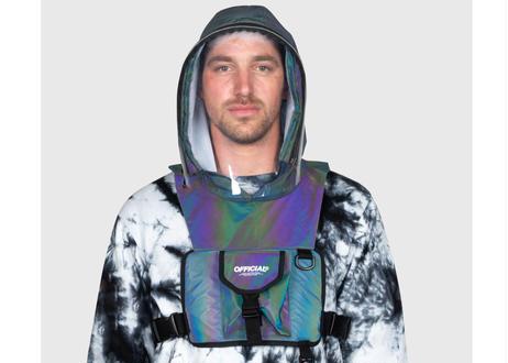 OFFICIAL Hood Shield Utility Chest Bag (Rainbow Reflective)