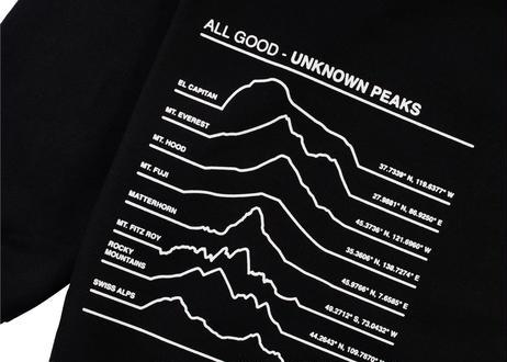 ALL GOOD Unknown Peaks Crewnecks Black