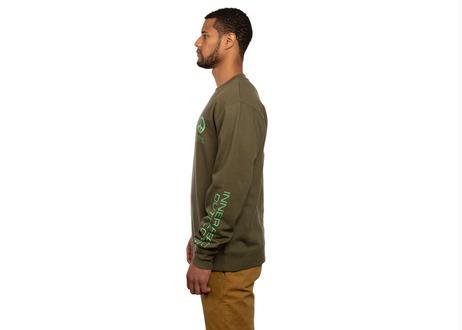 All Good Inner Peace Outdoors Crewneck Sweatshirt - Army Green