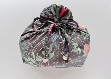 リバティトラベル巾着・イルマ・ダークグレー