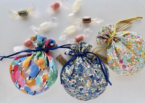 リバティキャンディ巾着・コベントガーデン・ネイビーピンク(お客様レビューあり)