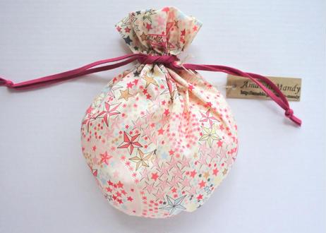 リバティキャンディ巾着・アデラジャ・ピンク