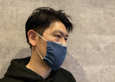 ハッピーマスク・カラフルダブルガーゼ・Lサイズ・表グレー(お客様レビューあり)