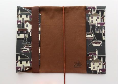 リバティ新書サイズブックカバー・クールコースト・ブラウン