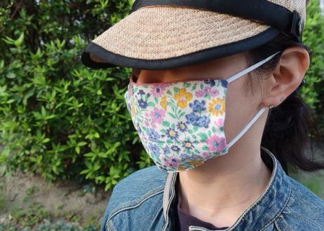 ハッピーマスク・リバティダブルガーゼ・ジョセフィンズガーデン・オレンジ(お客様レビューあり)