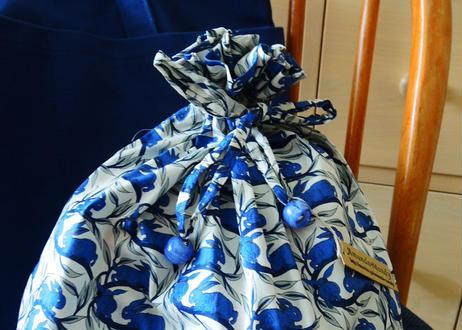 リバティトラベル巾着 コットンテイル