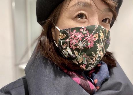リバティ・立体おしゃれマスク・フローティングフローラ・ピンク(お客様レビューあり)