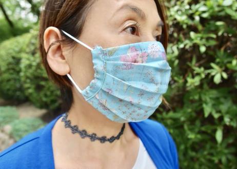 ハッピーマスク・軽やかリバティダブルガーゼ(Mサイズ)・メイモリス  ・グレー