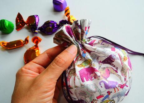 リバティキャンディ巾着・サンドリーヌ
