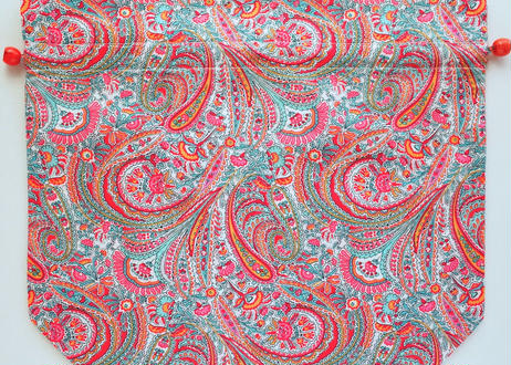 トラベル巾着大・アビーロード・ オレンジピンク(お客様レビューあり)