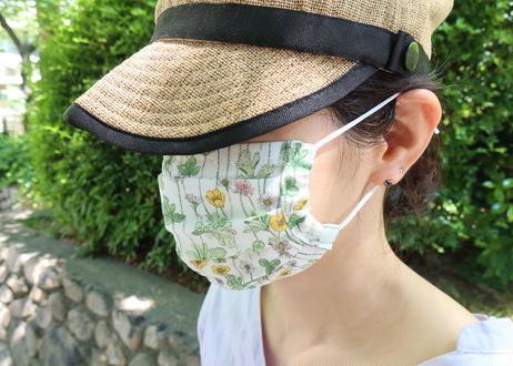 ハッピーマスク・軽やかリバティダブルガーゼ(Mサイズ)・アンジェリカガーラ・ブルー