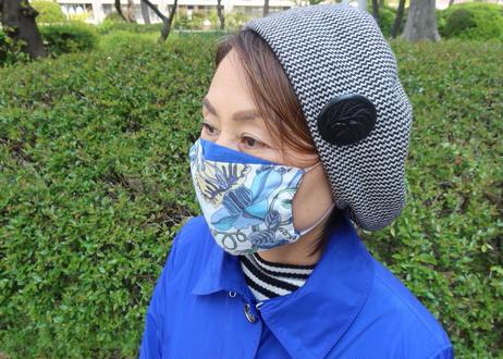 ハッピーマスク・リバティダブルガーゼ(Lサイズ)・ファンタジーランド・ブルー