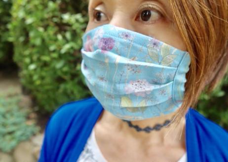 ハッピーマスク・軽やかリバティダブルガーゼ(Mサイズ)・マーガレットアニー・パステル