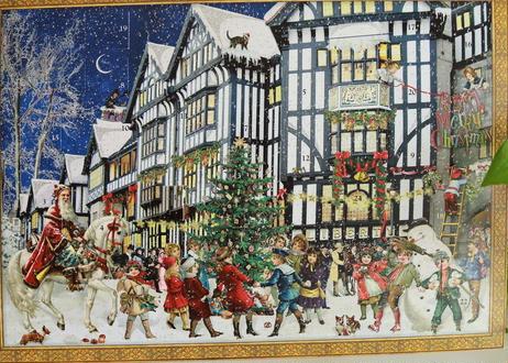 Libertyクリスマスアドベントカレンダー・夜空版(ロンドンリバティ百貨店からのお取り寄せ)お客様レビューあり