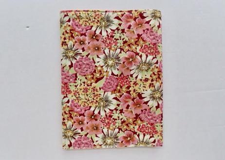 リバティシンプルブックカバー・ピンク花柄