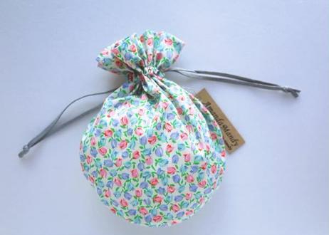 リバティキャンディ巾着・チューリップ小・ピンクブルー
