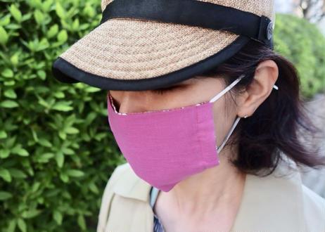 ハッピーマスク・リバティダブルガーゼ(Mサイズ)・アンジェリカガーラ・ピンク