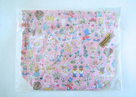 リバティトラベル巾着 ギャリーモジャースレイナード(アリス柄)ピンク