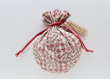リバティキャンディ巾着・スリーピングローズ・ピンク
