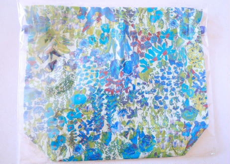 リバティトラベル巾着 ペインターズメドウ ・ブルー