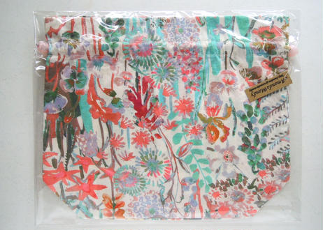 リバティトラベル巾着 ハンプトンウエディング ペールカラー
