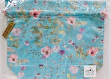 リバティトラベル巾着・イルマ水色(70%縮小)