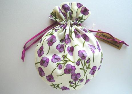 リバティキャンディ巾着・ロス・パープル(お客様レビューあり)
