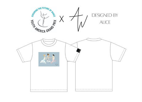 【YAGP日本予選会場 引き取り専用】 YAGP x Designed by Alice コラボTシャツ